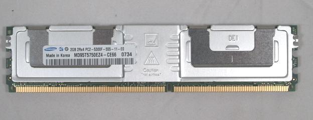M395T5750EZ4-CE66 Samsung 2GB DIMM DDR2 PC2-5300F (667MHz) 2Rx4