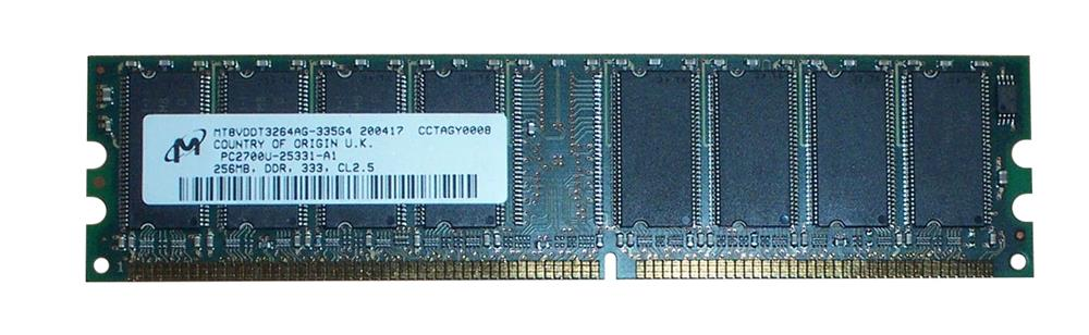 DESKTOP DIMM DDR PC2700(333) UNBUF 2.5v 1RX8 184P 32MX64 32mX8 CL