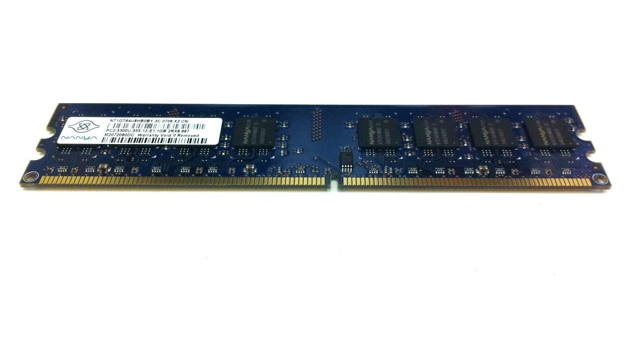Nanya Nt1Gt64U8Hb0By-3C Memory 1Gb Ddr2 Pc2-5300 667Mhz Unbuffere