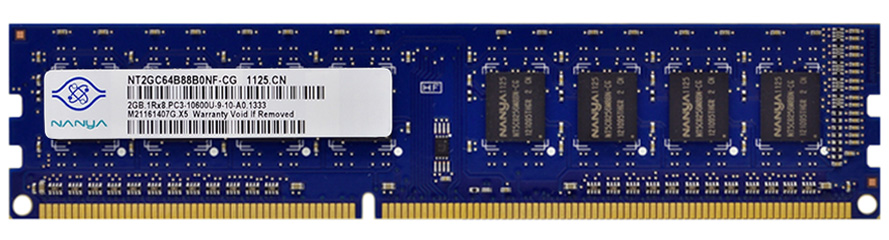 Nanya NT2GC64B88B0NF-CG 2GB PC3-10600 DDR3-1333MHz non-ECC Unbuff