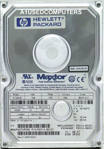 HP P2014-60101 hard disk drive 10GB 3.5 inch IDE 5400RPM