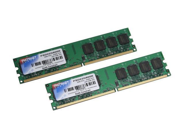 PSD22G800K-I Patriot Signature Line 2GB Kit (2 X 1GB) PC2-6400 DDR2-80