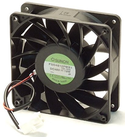 Sunon PSd4812Pmb1 Fan Assy 48Vdc 19W 2.I55 2-Wire Connector