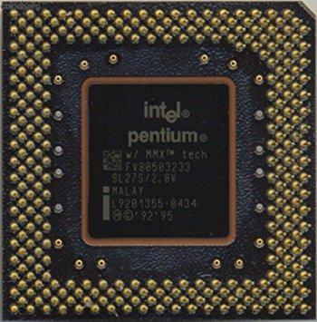 Intel Sl27S Cpu Fv80503233 2.8V 233Mhz Mmx