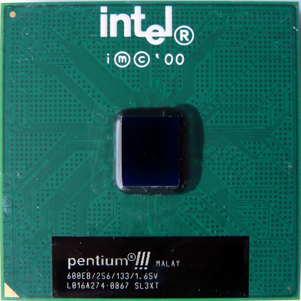 Intel SL3XT - 600Mhz 133Mhz 256K Intel Pentium III CPU Processor