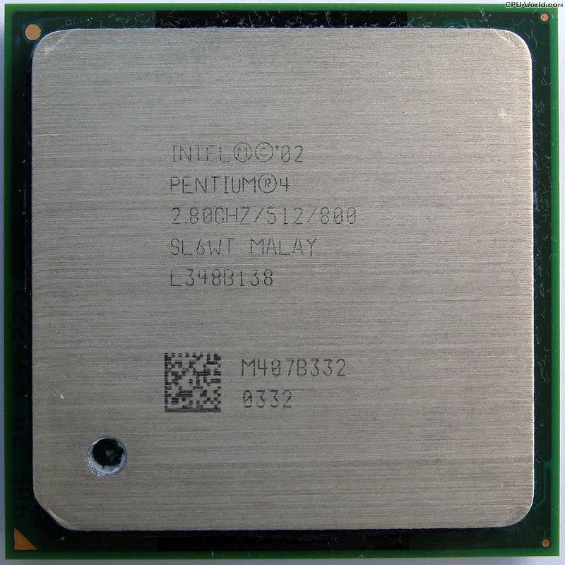 Intel Pentium 4 2.80GHz 800MHz FSB 512KB L2 Cache Socket mPGA478