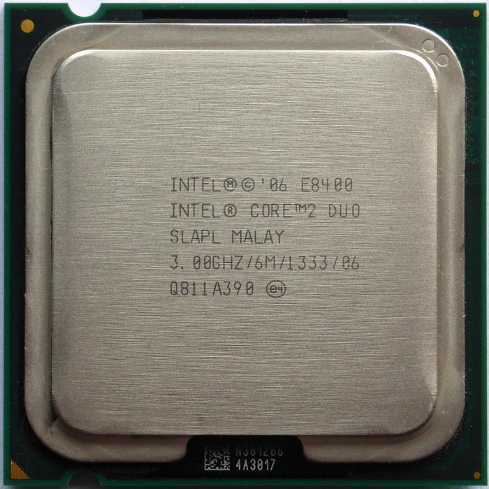 Core 2 Duo E8400 3GHz 6Mb Cache 1333FSB SKT 775 SLAPL