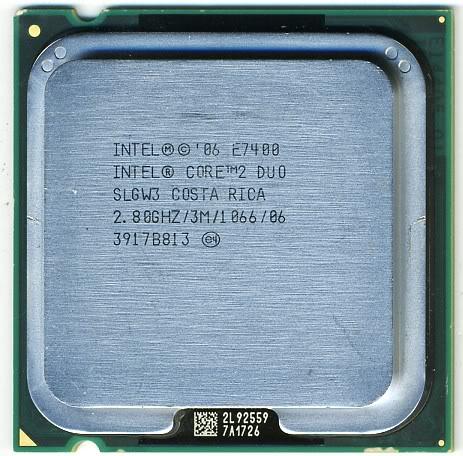 Intel SLGW3 Core 2 Duo E7400 2.8GHz 1066MHz FSB 3MB LGA775