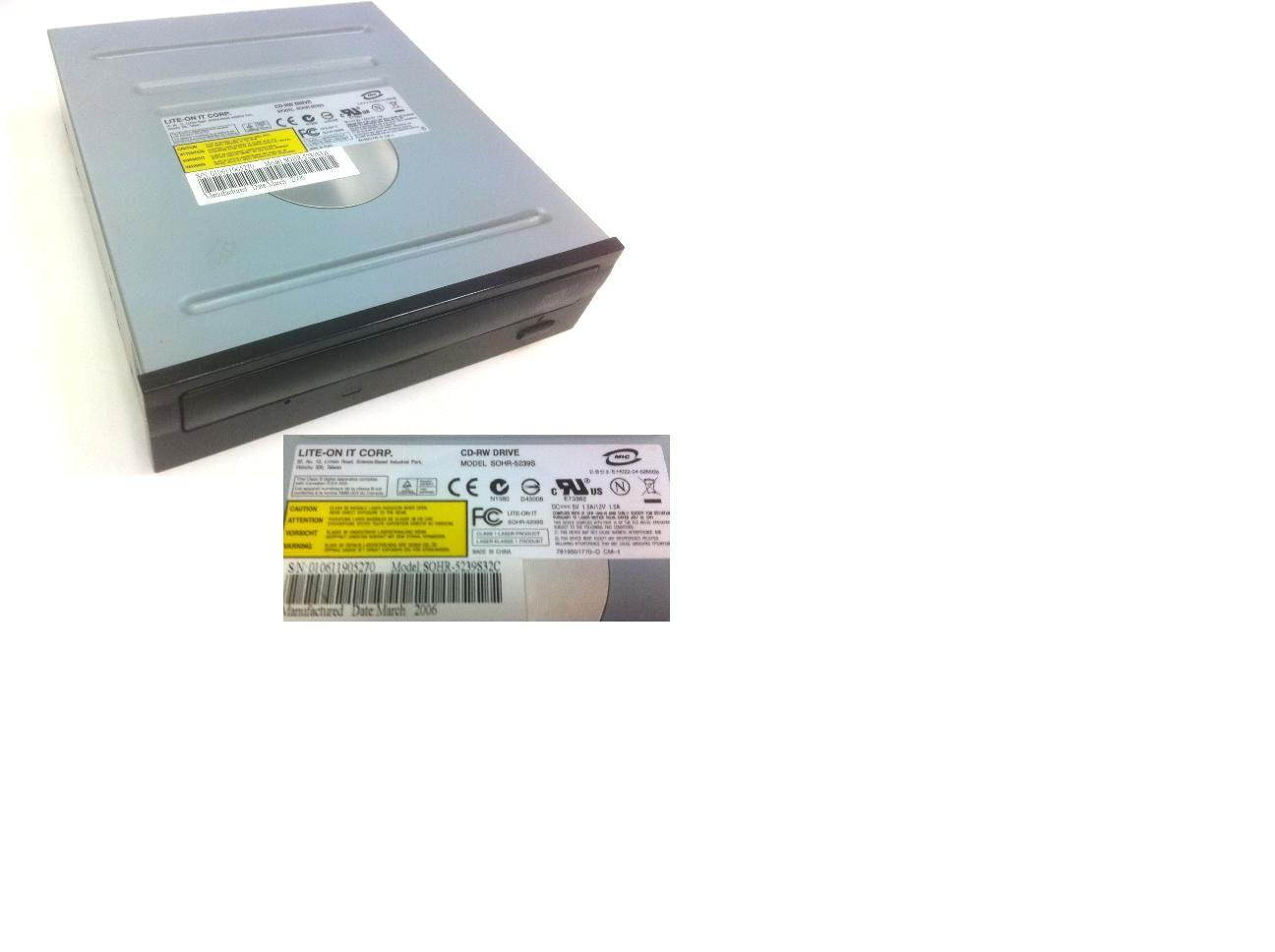 LiteOn SOHR-5239S32C Black CDRW 52X32X 5.25 inch IDE