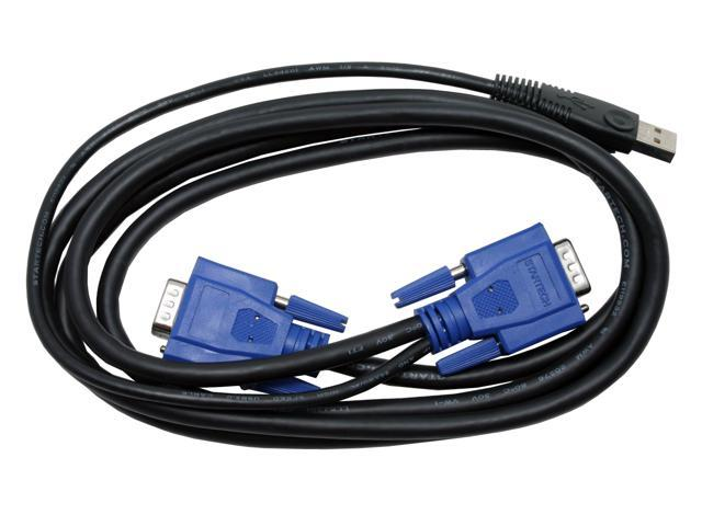 StarTech.com 6 ft 2-in-1 Ultra Thin USB KVM Cable - for KVM Swit