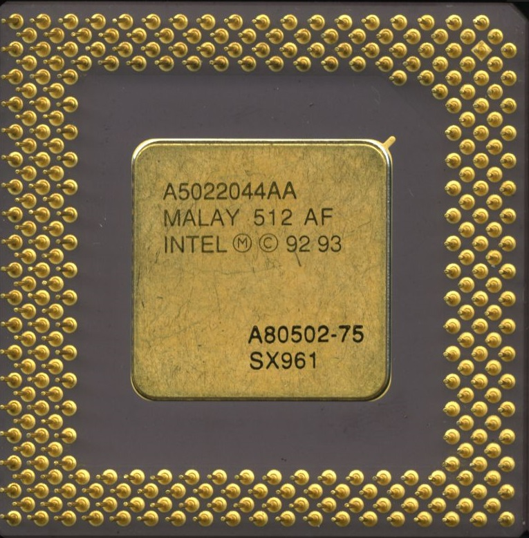 Intel Sx957 Pentium 90Mhz Gold Top Ceramic