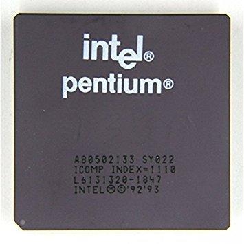 Intel Sy022 P1 Cpu 133Mhz Ceramic Pga