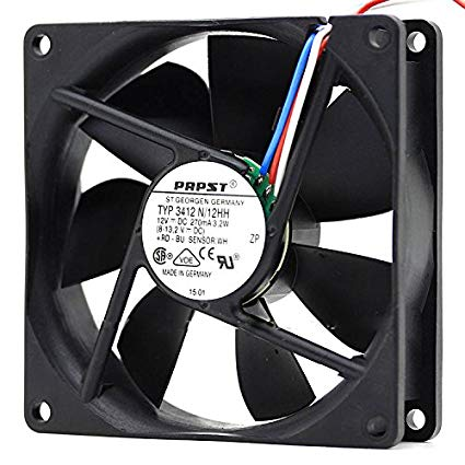 PAPST 12VDC 2.4W COOLING FAN TYP 3412 NNB 3 Wire 3 Pin