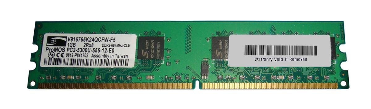 1GB 2Rx8 DDR2-667MHZ-CL5 PC2-5300U-555-12-E0