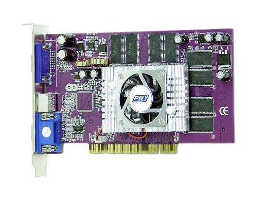 PNY GeForce VCGFX52PPB NVIDIA GeForce FX5200 PCI 128MB Dual VGA V