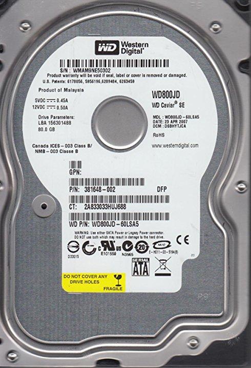 Hard Drive 80GB